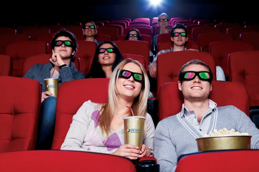 Movie theatre 3D glasses